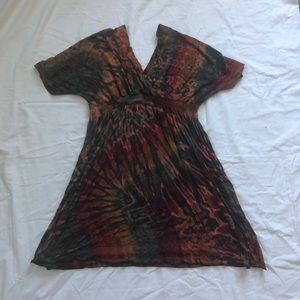 Mudmee Tie Dye Tunic Dress